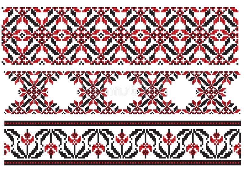 element haftuje ukrainian trzy ilustracji