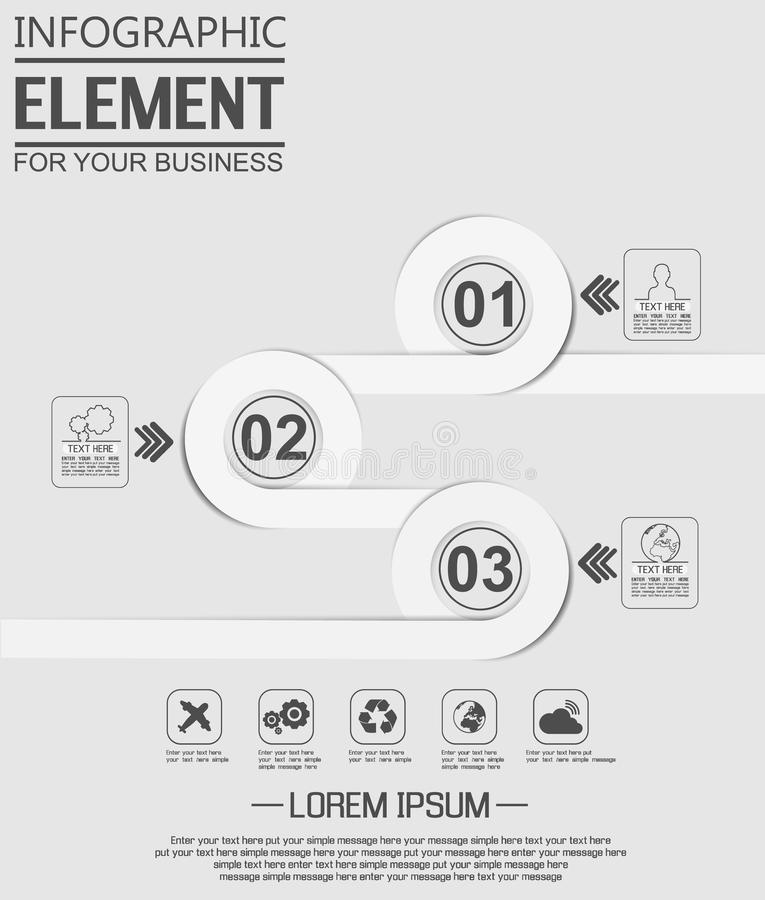 Element For Infographic Chart Template Geometric Figure