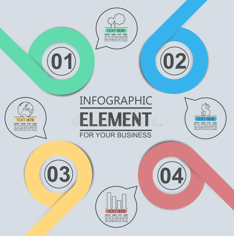 Element For Infographic Chart Template Geometric Figure Overlapping