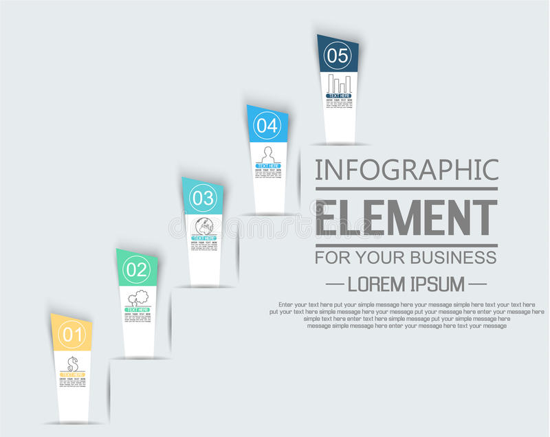 Element For Infographic Chart Template Geometric Figure Stikers