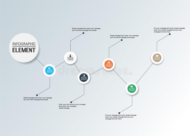 Element For Infographic Chart Template Geometric Figure Timeline