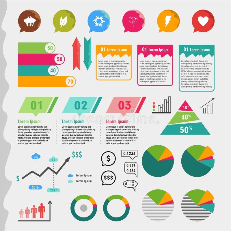 Element-Informations-Grafik lizenzfreie stockbilder
