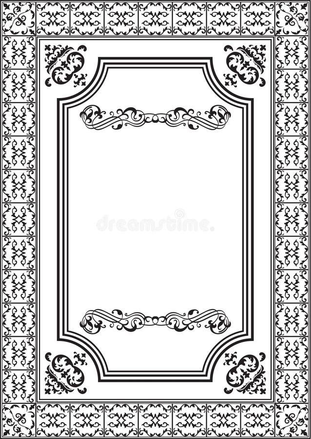 element inramniner trevligt royaltyfri illustrationer
