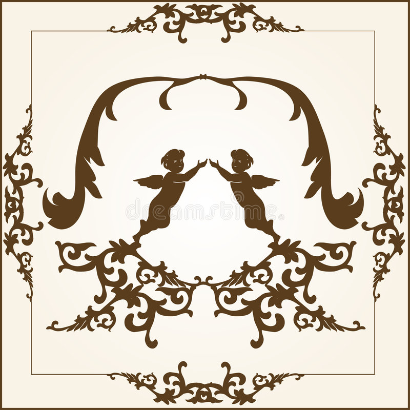 element kwiecista rama ilustracja wektor