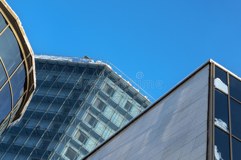 Element of modern building. Architectural background royalty free stock photos