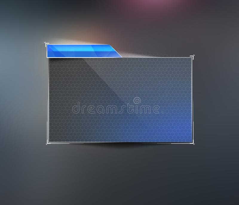 Element of modern design. Instrument panel for text. Dashboard user interface for your website, banner. Window element in the. Cosmic style. Illustration of the royalty free illustration