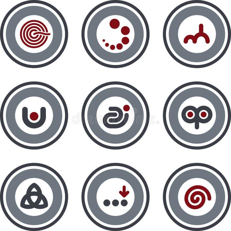 element p för design 10a vektor illustrationer