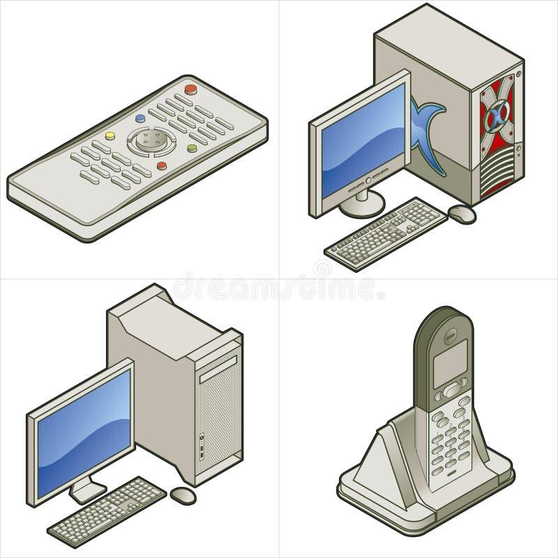 element p för design 15d stock illustrationer