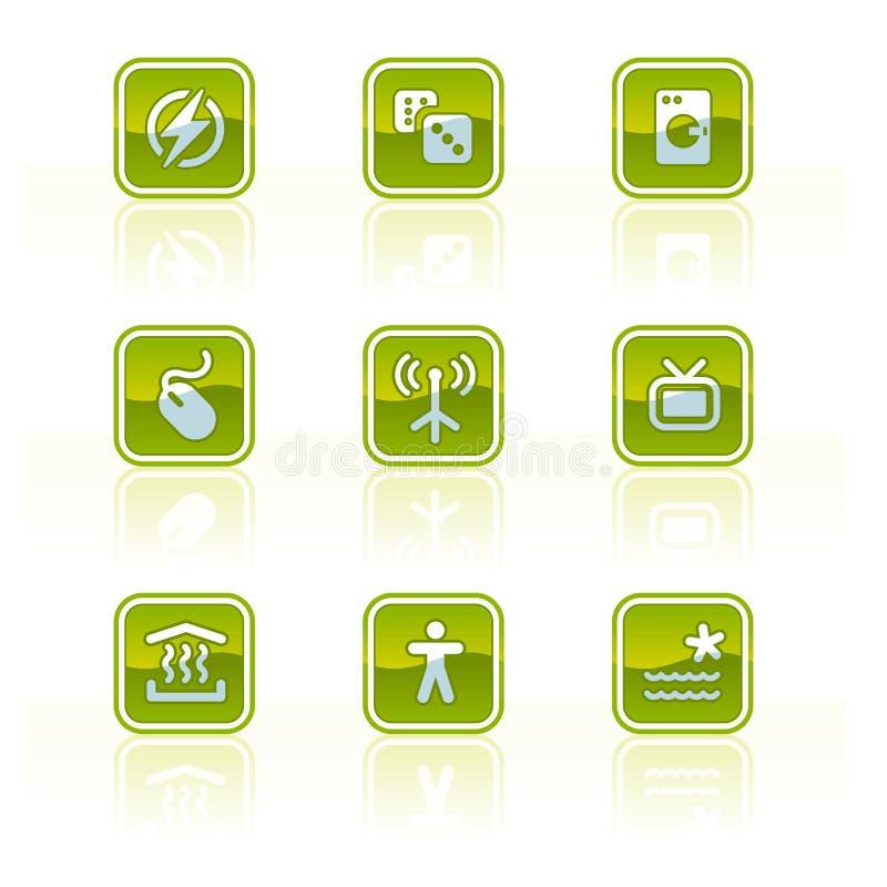 element p för design 42b stock illustrationer