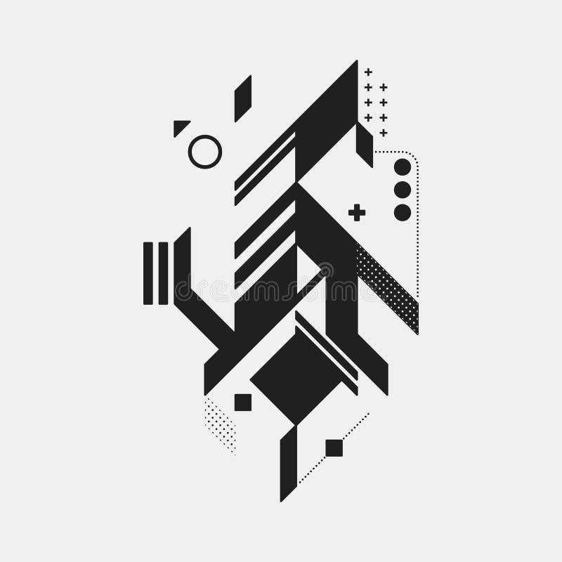 element projektu abstrakcyjne ilustracji