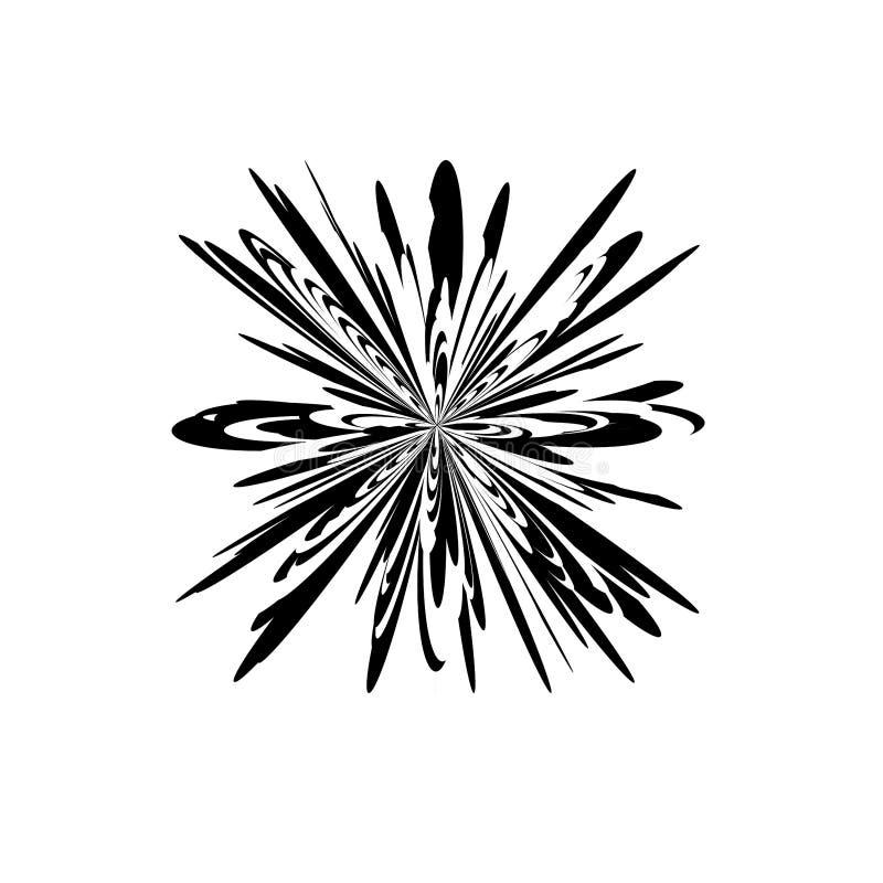 element projektu abstrakcyjne Wybuch, wybuch, prędkość ruchu dymanic skutek Promieniowy kszta?t ilustracji
