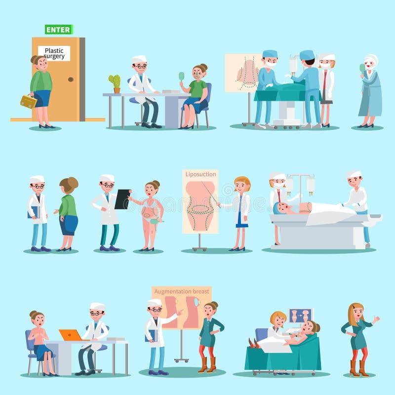 Element-Satz der plastischen Chirurgie lizenzfreie abbildung