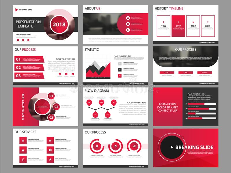 Element-Schablonensatz der Geschäftsdarstellung infographic vektor abbildung