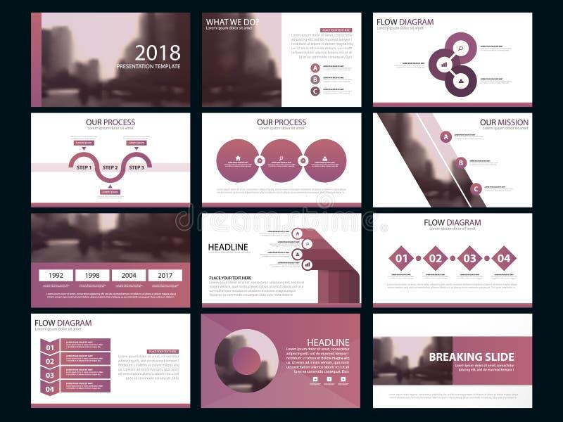 Element-Schablonensatz der Geschäftsdarstellung infographic stock abbildung