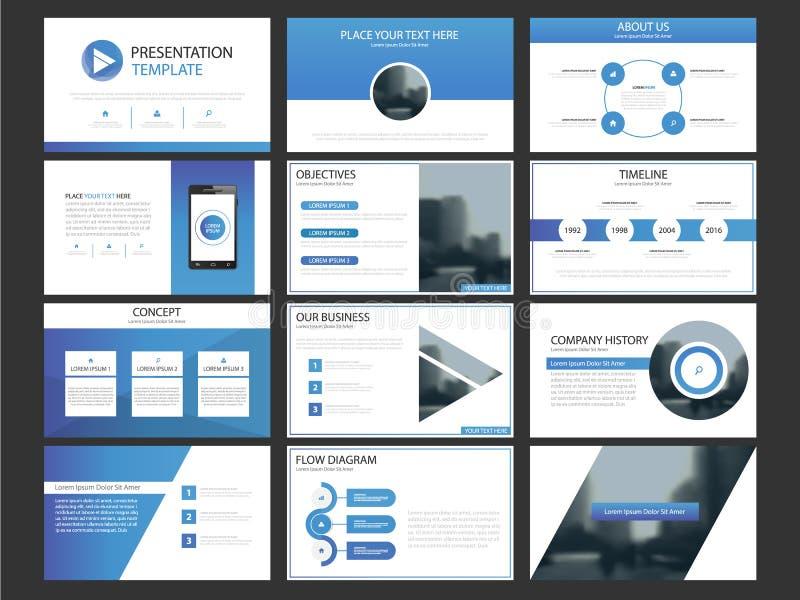 Element-Schablonensatz der Geschäftsdarstellung infographic, Jahresbericht vektor abbildung