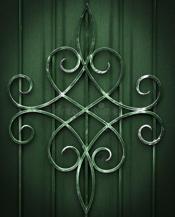 Element van architecturale decoratieve buitenhek royalty-vrije stock afbeelding