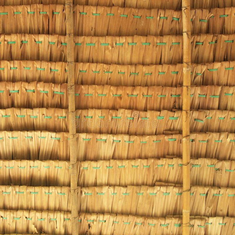 Element van een oud de bouwdak De textuur van met stro bedekt dak stock fotografie
