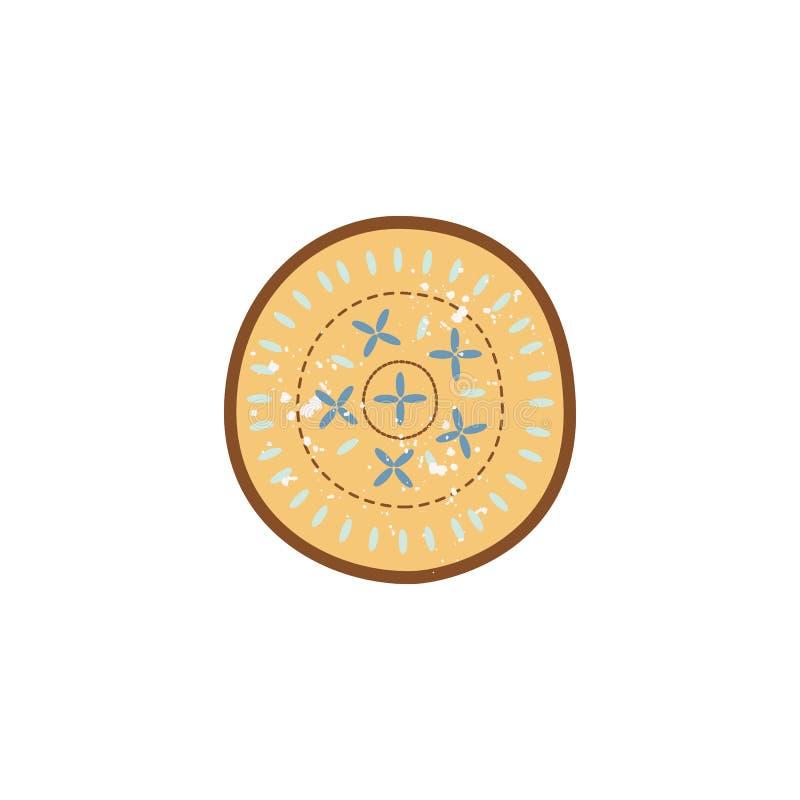 Element van geïsoleerd keukenaardewerk of vaatwerk vlakke vectorillustratie stock illustratie