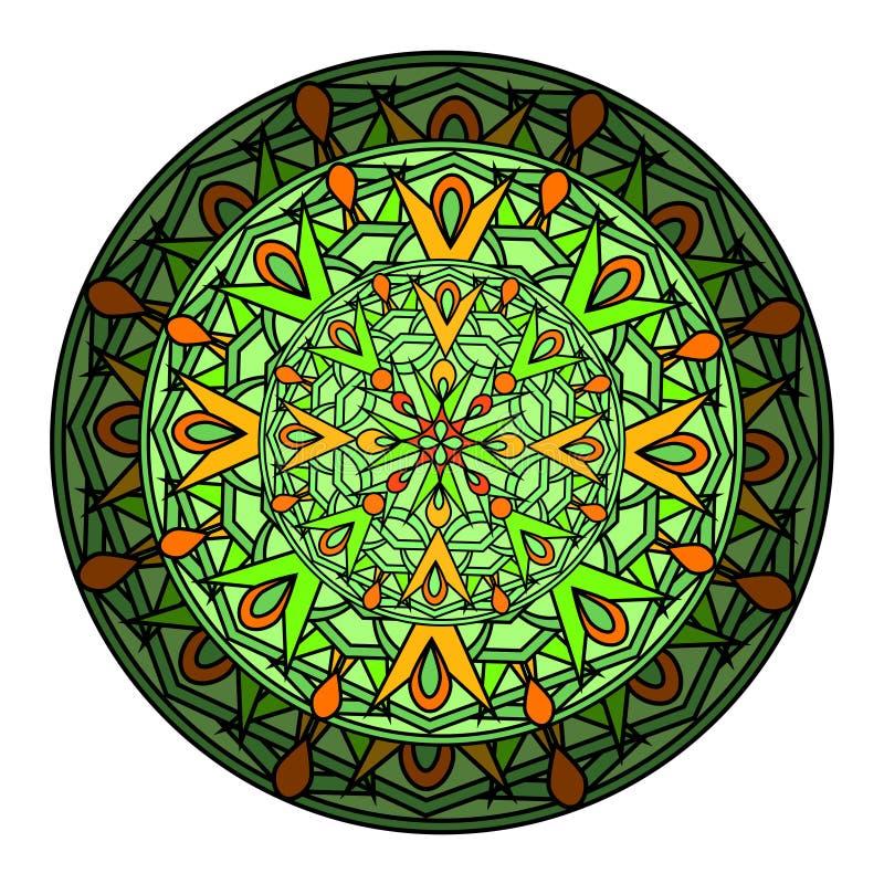 element van het kleuren het decoratieve ontwerp met een cirkelpatroon mandala stock illustratie