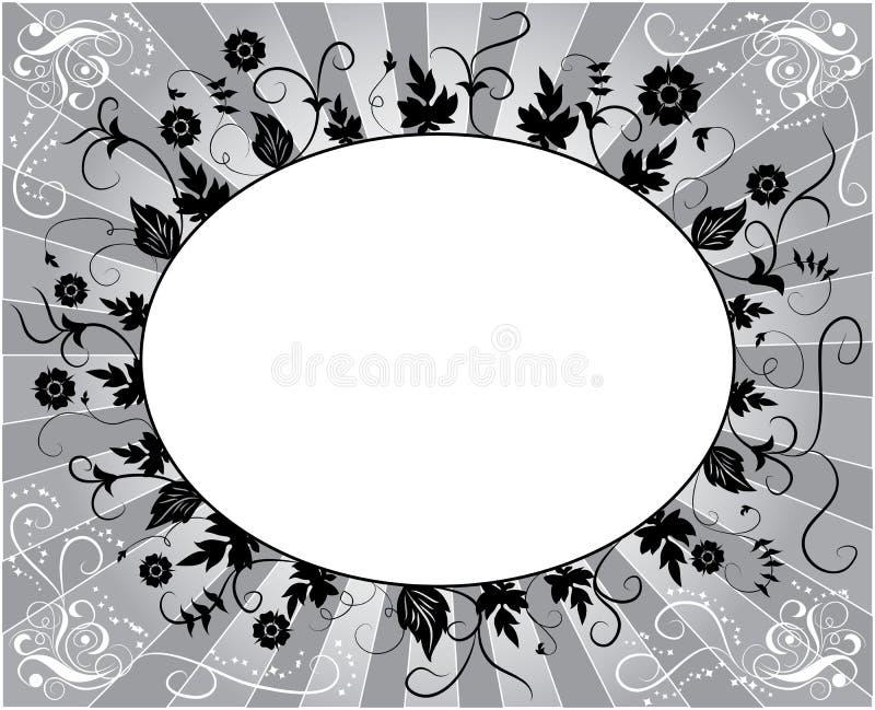 Element voor ontwerp, bloemframe, vector stock illustratie
