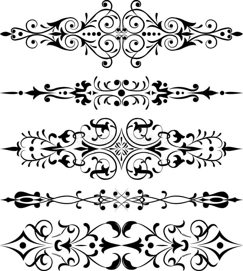 Element voor ontwerp, hoekbloem, vector royalty-vrije illustratie