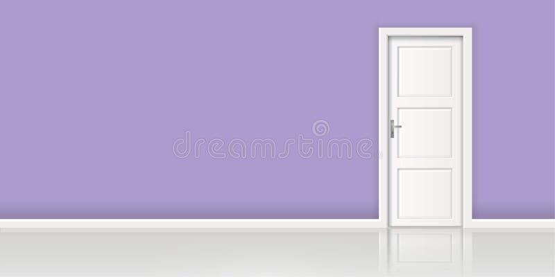 Element wektorowa tło ściana i zamykający biały drzwi architektura - ilustracja wektor