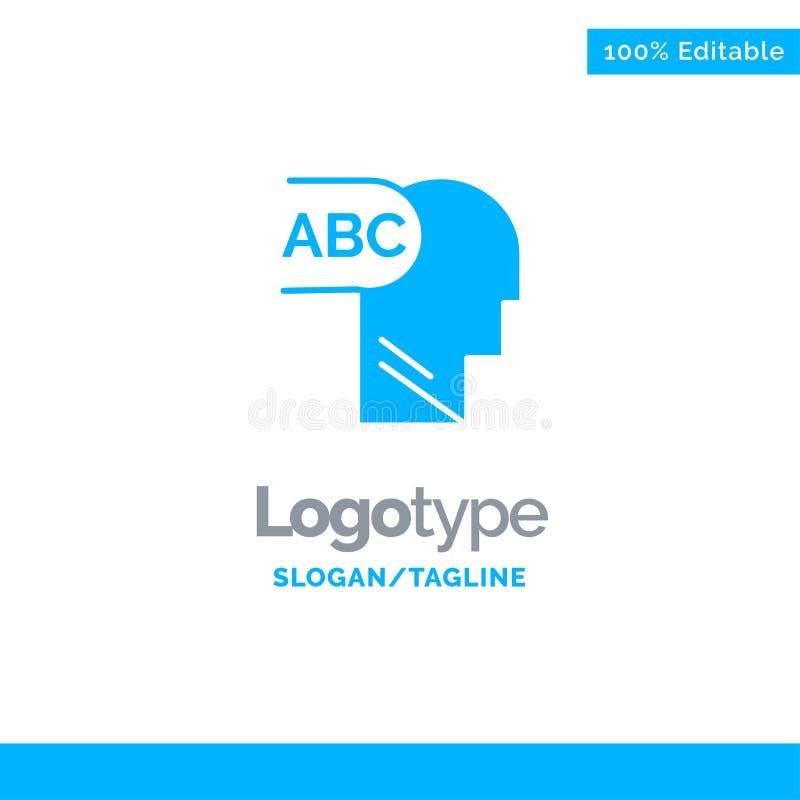 Elementair, Kennis, leid Blauw Stevig Logo Template Plaats voor Tagline vector illustratie