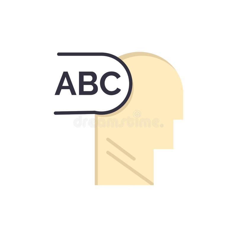 Elementair, Kennis, leid Vlak Kleurenpictogram Het vectormalplaatje van de pictogrambanner royalty-vrije illustratie
