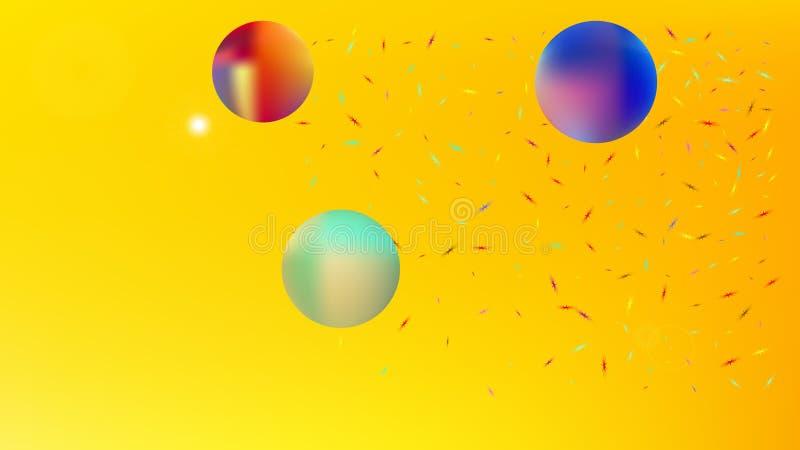 Elementaire abstracte ruimte netto fantasie royalty-vrije illustratie