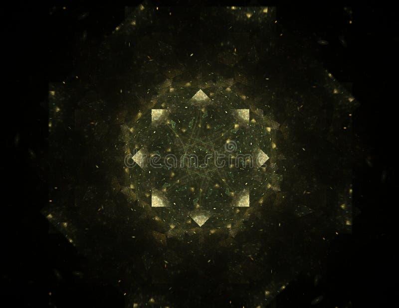 Elementaire Deeltjesreeks Interactie van abstracte fractal royalty-vrije illustratie