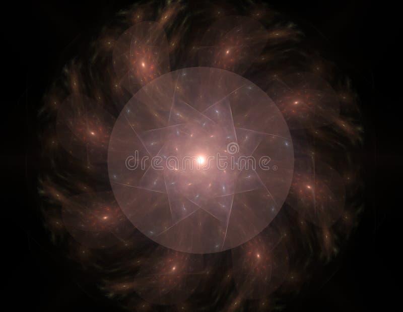 Elementaire Deeltjesreeks Interactie van abstracte fractal vormen voor wat betreft kernfysicawetenschap en grafisch ontwerp stock illustratie