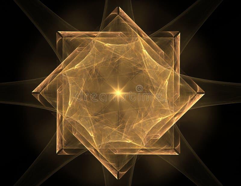 Elementaire Deeltjesreeks Interactie van abstracte fractal vormen voor wat betreft kernfysicawetenschap en grafisch ontwerp royalty-vrije illustratie