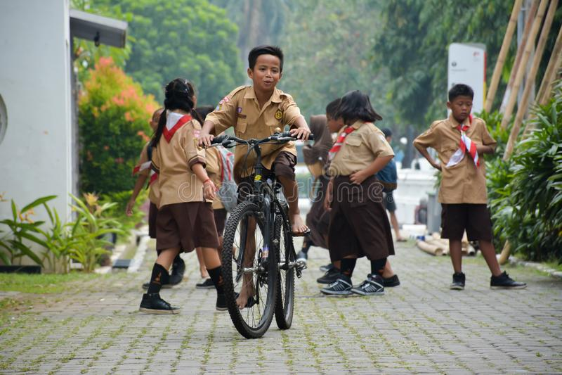 Elementaire Jongens en Meisjesverkenner Jakarta royalty-vrije stock fotografie
