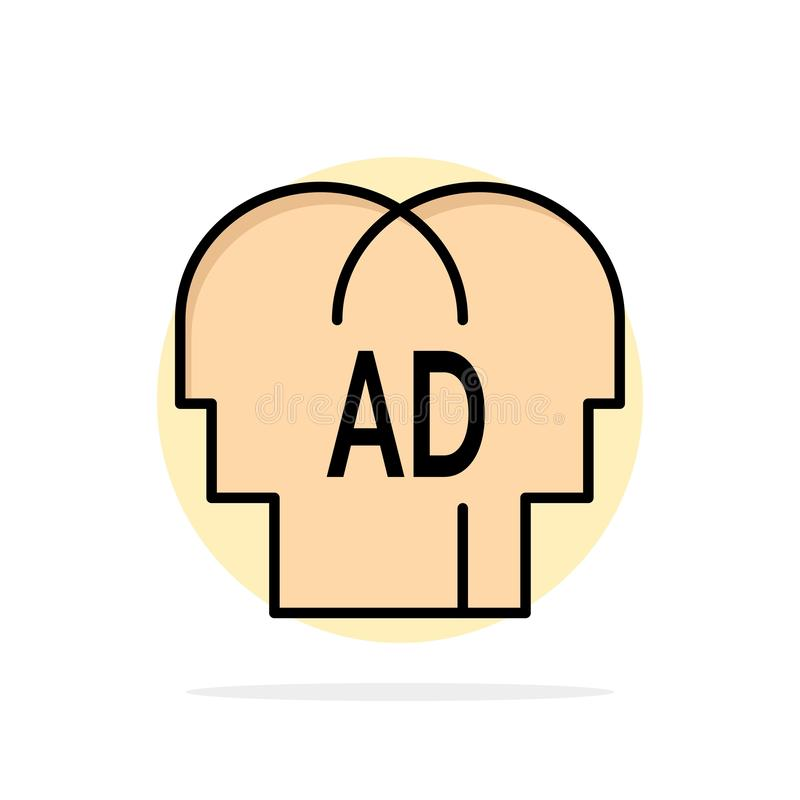 Elemental, conocimiento, ABC, icono del color de Brian Abstract Circle Background Flat stock de ilustración