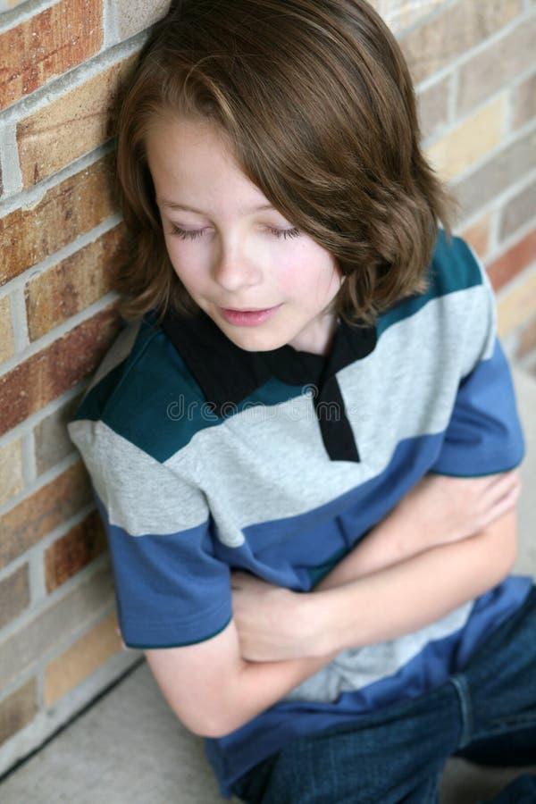 Elementary age boy sleeping