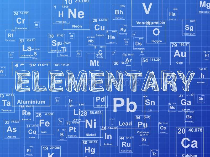 Elementary Element Blueprint Background Stock Vector Illustration