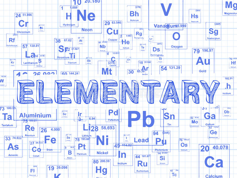 Elementary element graph paper background stock vector elementary word on periodic table symbols graph paper background urtaz Gallery
