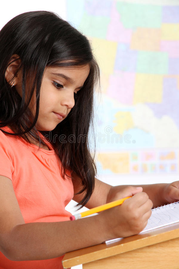 Elementary Girl In School stock photos