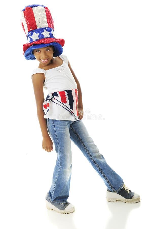 Elementary Patriot stock photo