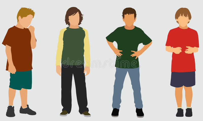 Download Elementary School Boys stock vector. Illustration of elementary - 29281901