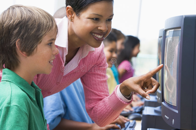 Download Elementary School Computer Class Stock Images - Image: 4995294
