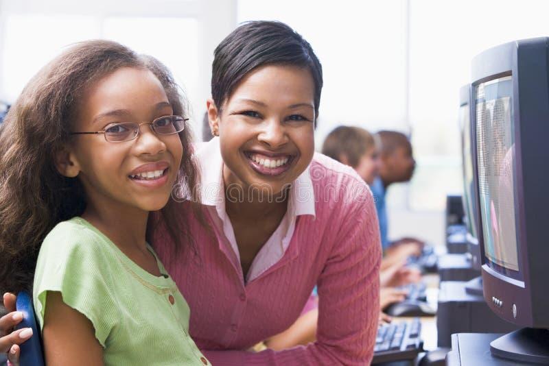 Download Elementary School Computer Class Stock Photo - Image: 4999274