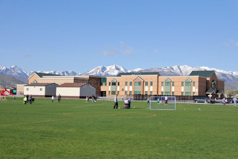 Download Elementary School in Utah editorial photo. Image of modern - 24544471