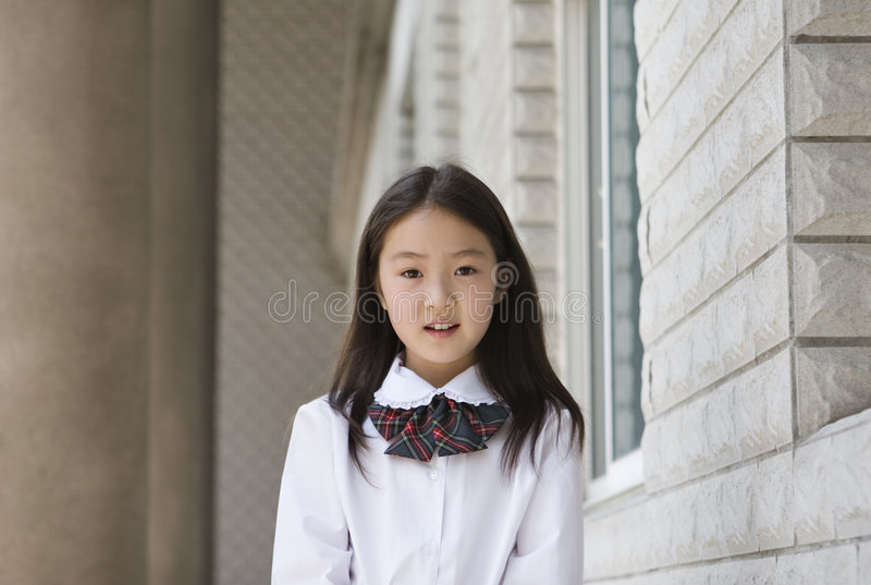 Elementary Schoolgirl Royalty Free Stock Images