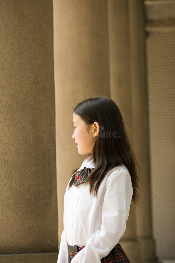 Download Elementary schoolgirl stock photo. Image of building, black - 6094036