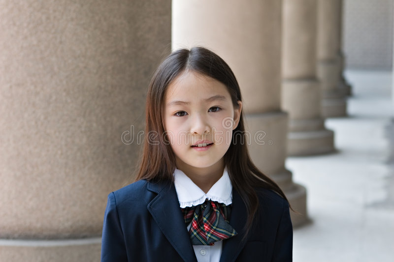 Elementary schoolgirl stock photos