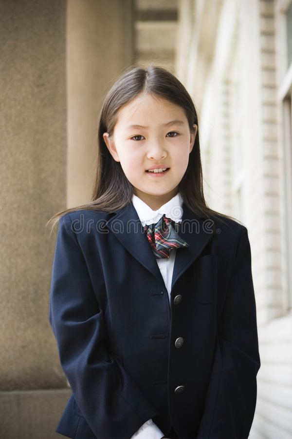 Elementary schoolgirl royalty free stock photography