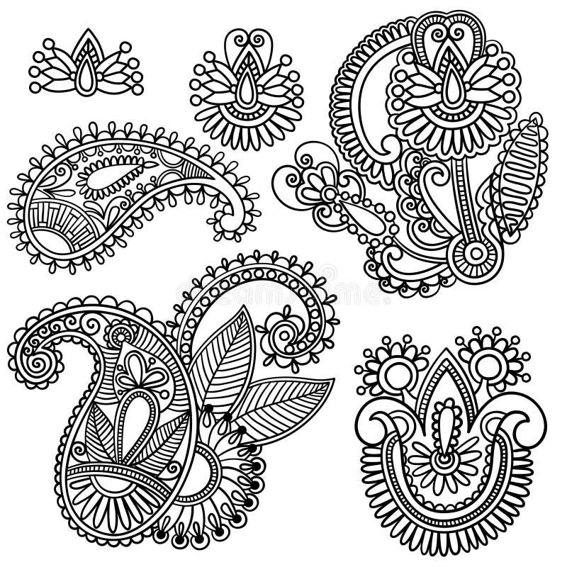 elementblommor vektor illustrationer
