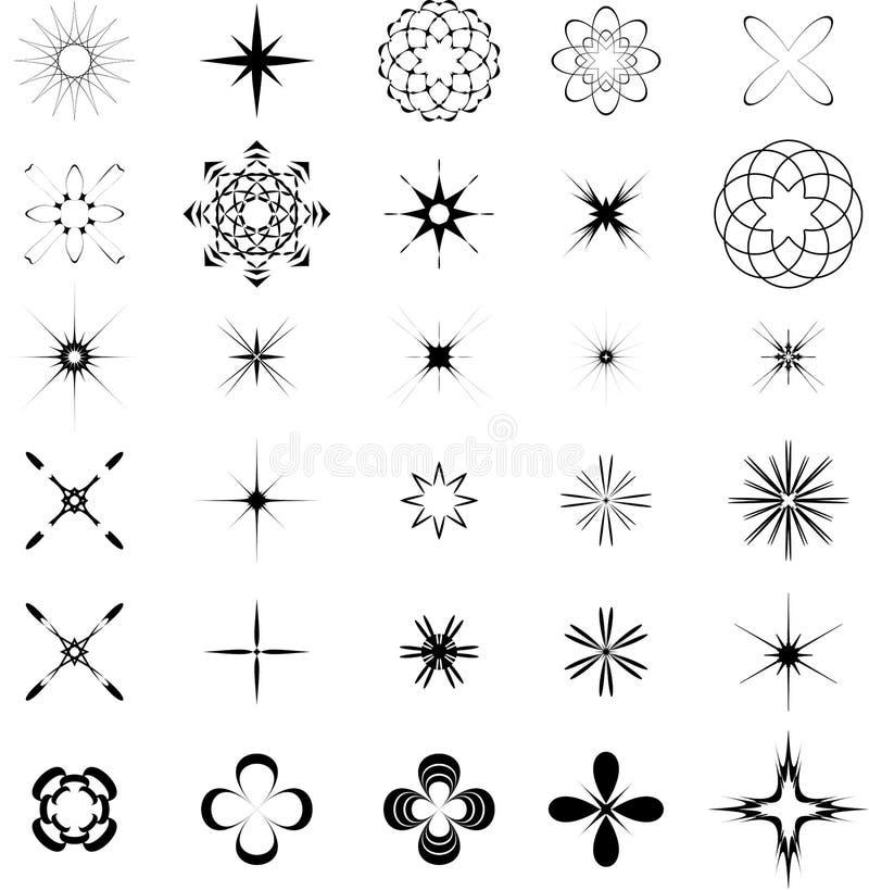 elementdiagram stock illustrationer