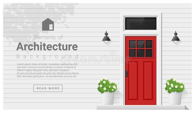 Elemente der Architektur, Haustürhintergrund lizenzfreie abbildung